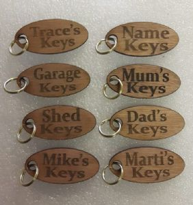 Personalised quality wooden keys wood  special  gift  present bespoke